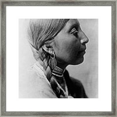 Chinookan Indian Woman Circa 1910 Framed Print by Aged Pixel