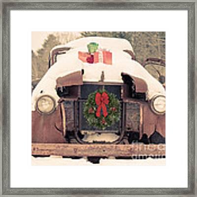 Christmas Car Card Framed Print