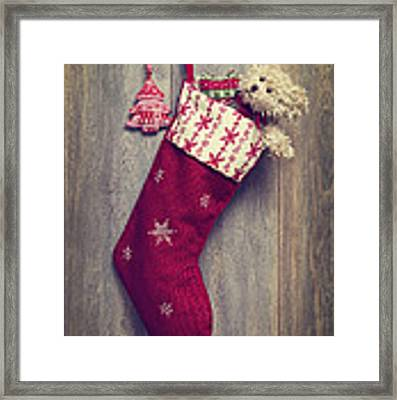 Christmas Stocking Framed Print by Amanda Elwell