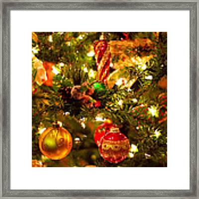 Christmas Tree Background Framed Print