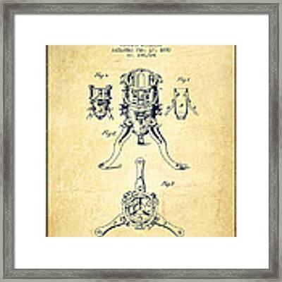 Christmas Tree Holder Patent From 1880 - Vintage Framed Print