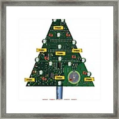 Christmas Tree Motherboard Framed Print