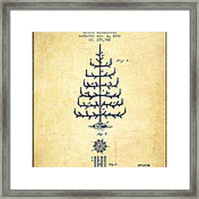 Christmas Tree Patent From 1882 - Vintage Framed Print