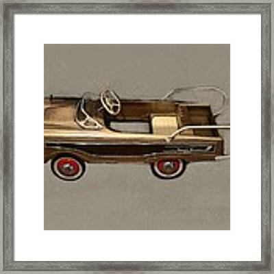 Classic Ranch Wagon Pedal Car Framed Print by Michelle Calkins
