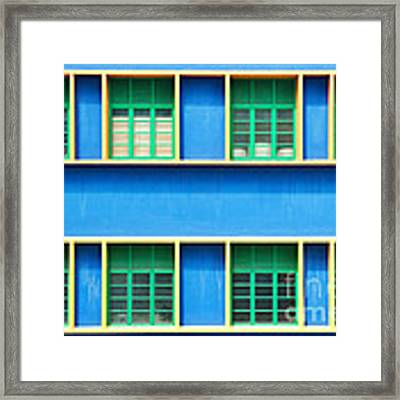 Colorful Windows Framed Print by Yew Kwang