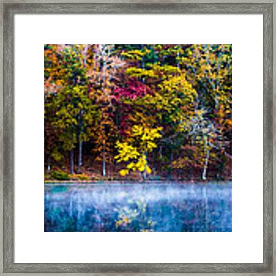 Colors In Early Morning Fog Framed Print