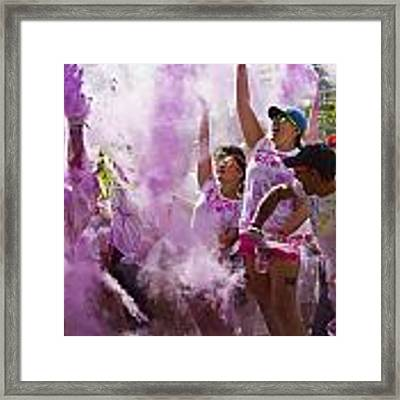 Colour Purple  Framed Print by Debbie Cundy