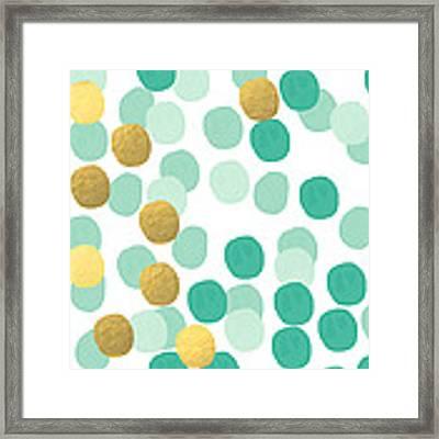 Confetti 2- Abstract Art Framed Print