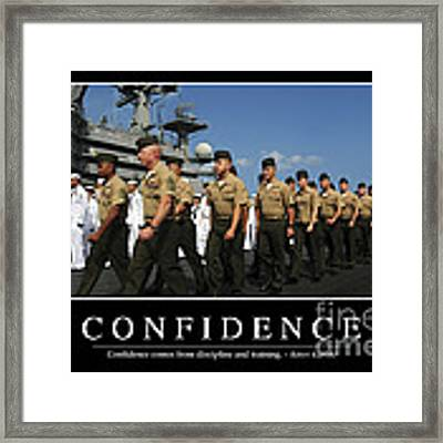 Confidence Inspirational Quote Framed Print by Stocktrek Images