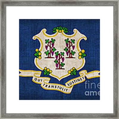 Connecticut State Flag Framed Print