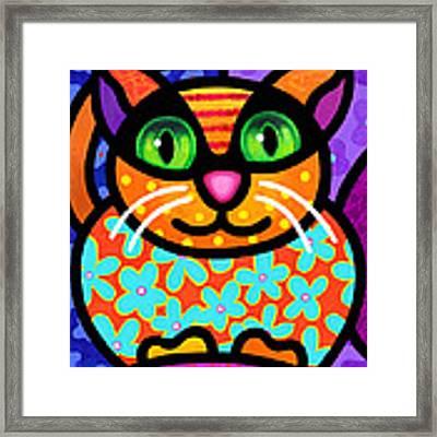Contented Cat Framed Print by Steven Scott