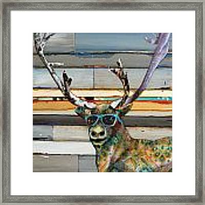 Cool Caribou Framed Print