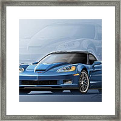 Corvette Zr1 Illustration Framed Print
