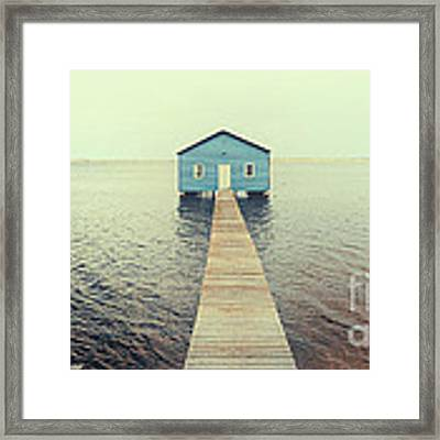 Crawley Edge Boatshed Framed Print by Yew Kwang
