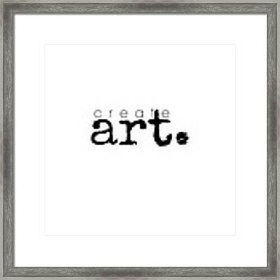 Create Art Framed Print