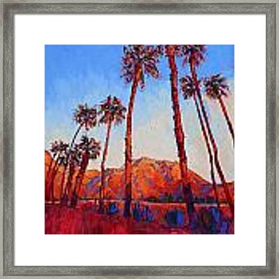 Crimson Borrego Framed Print by Erin Hanson