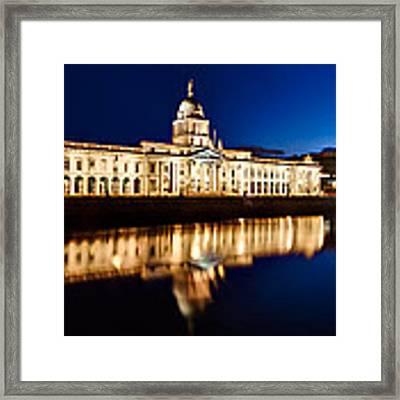 Customs House At Night / Dublin Framed Print by Barry O Carroll