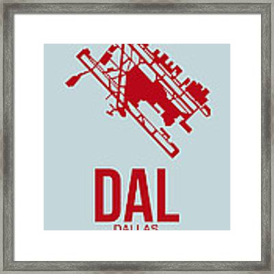 Dal Dallas Airport Poster 3 Framed Print