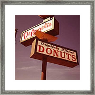 Deangelis Donuts Framed Print by Jim Zahniser