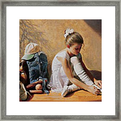 Denim To Lace Framed Print by Greg Olsen