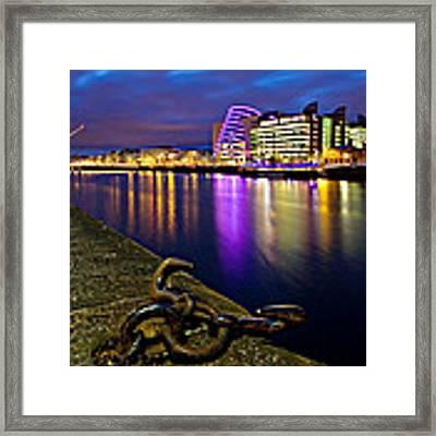 Dublin Docklands At Night / Dublin Framed Print by Barry O Carroll