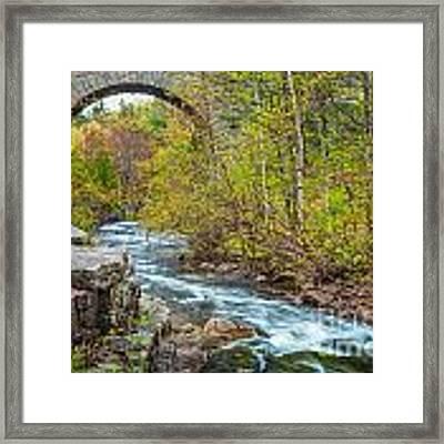 Duck Brook Bridge In Acadia Framed Print by Susan Cole Kelly