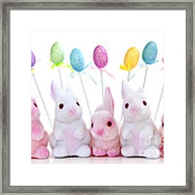 Easter Bunny Toys Framed Print