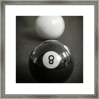 Eight Ball Framed Print by Edward Fielding