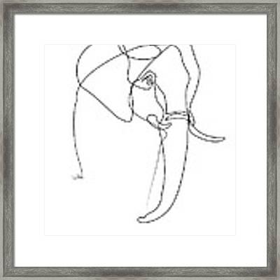 Elephant Line Framed Print