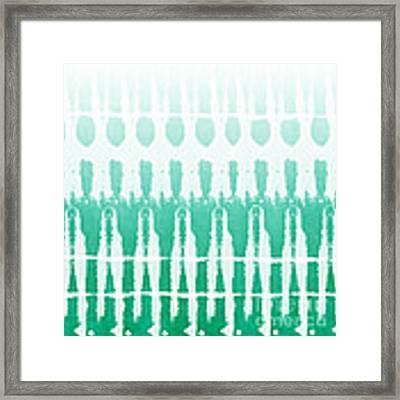 Emerald Ombre  Framed Print
