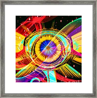 Eye Of Horus Framed Print by Eleni Mac Synodinos