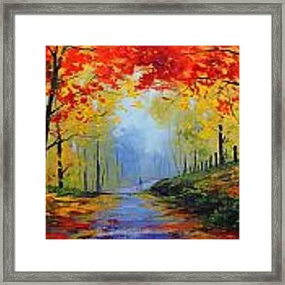 Fall Stroll Framed Print