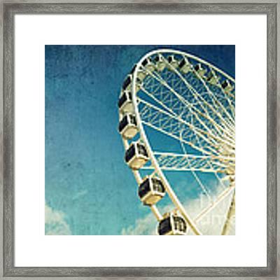 Ferris Wheel Retro Framed Print