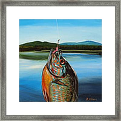First Catch Framed Print by Meghan OHare