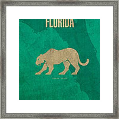 Florida State Facts Minimalist Movie Poster Art  Framed Print