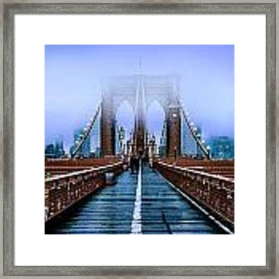 Fog Over The Brooklyn Framed Print