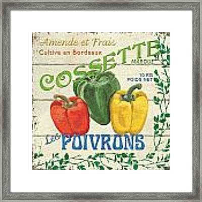 French Veggie Sign 4 Framed Print