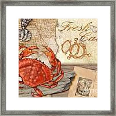 Fresh Catch Dungeness Crab Framed Print by Paul Brent