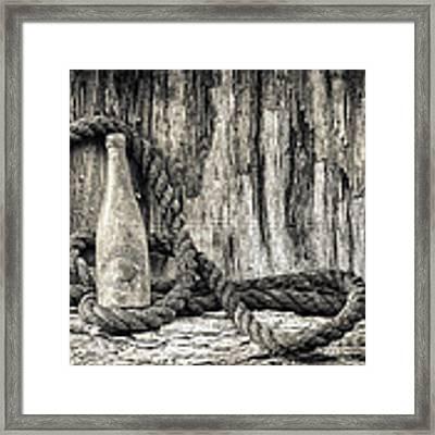 Gebhard Brewery Beer Bottle Framed Print by Nancy Strahinic