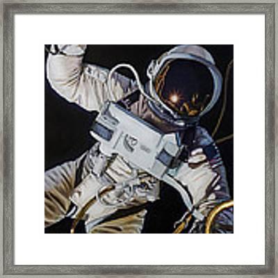 Gemini Iv- Ed White Framed Print by Simon Kregar