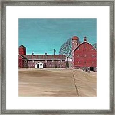 Glidden Farm Framed Print by John Wyckoff