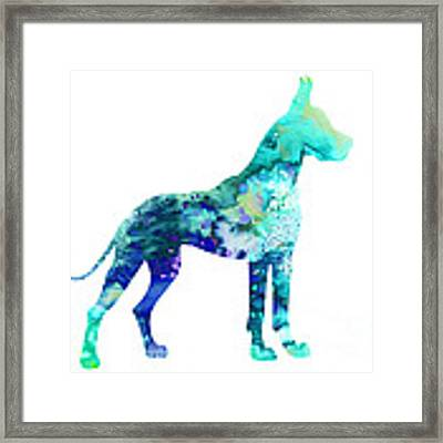 Great Dane 5 Framed Print by Watercolor Girl