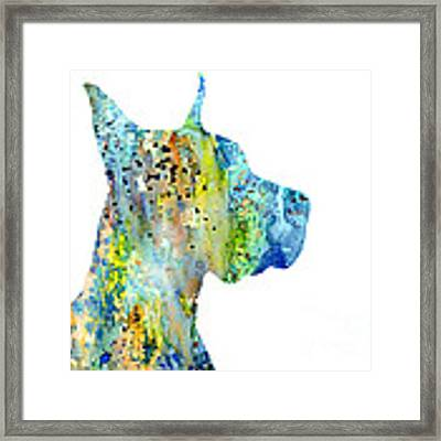 Great Dane 6 Framed Print by Watercolor Girl