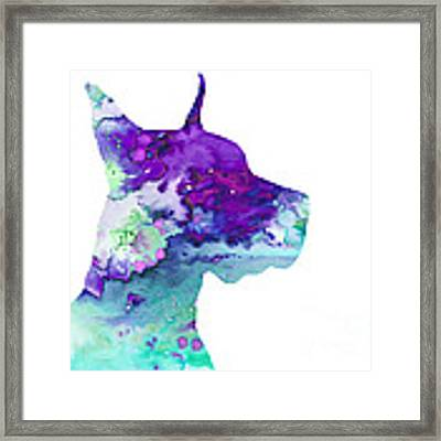 Great Dane 7 Framed Print by Watercolor Girl