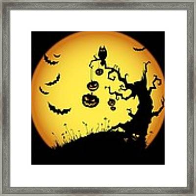 Halloween Haunted Tree Framed Print