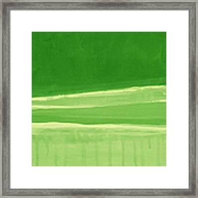Harmony In Green Framed Print
