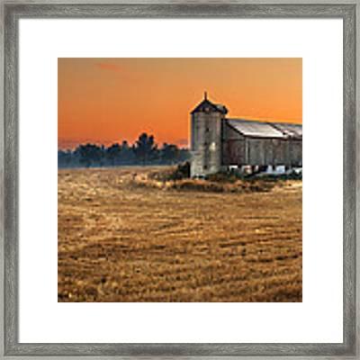 Harvest Morning Framed Print by Garvin Hunter