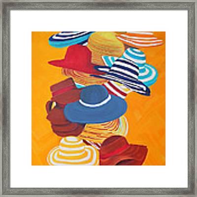Hats Off Framed Print by Deborah Boyd