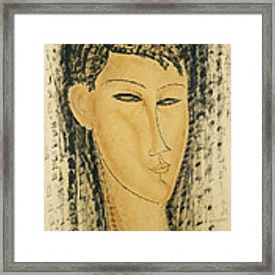 Head Of A Young Women Framed Print