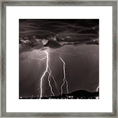 High Voltage Framed Print by Brad Brizek